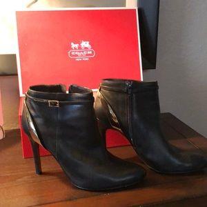 Coach Katisha Leather Boot Heel